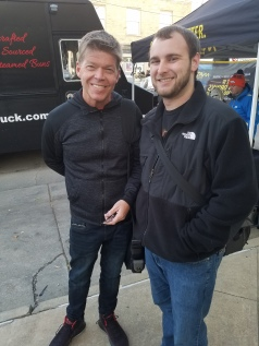 Ryan with Rob Liefeld, creator of Deadpool