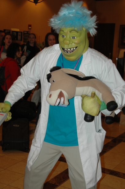 Shrek and Donkey as Rick and Morty